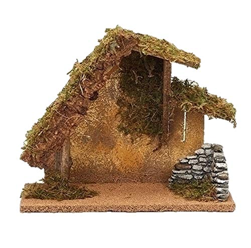 Fontanini 50427 9.5″ H Italian Stable for 5″ Scale Nativity Figures Village Building Accessory