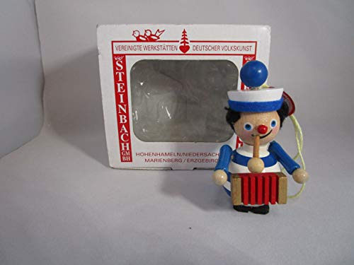 Steinbach Gm Bh Christmas Decorations,Gifts and Ornaments Handmade in Germany Wooden Musician Music Man Xylophone Player Ornament