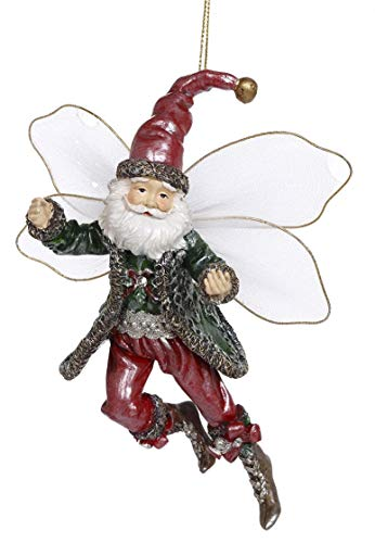 Mark Roberts Resin Limited Edition Fairy Hanging Ornament with Fabric Wings 6 Inches (Christmas Fairy 63-93260)