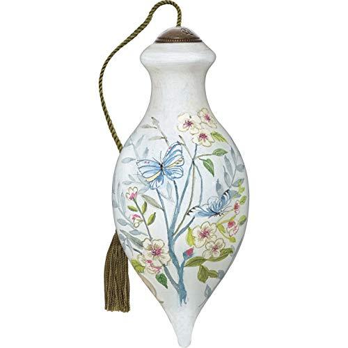 Ne'Qwa NeQwa Art Hand Painted Blown Glass Commemorative Blossoming Spring Ornament, Multi