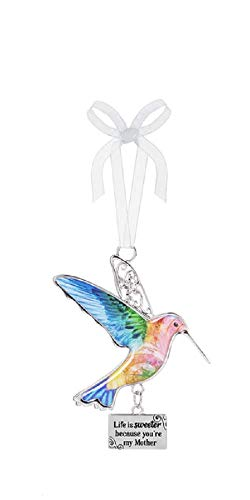 Ganz Decor Life is Beautiful Hummingbird Ornament 3.75″ H (Life is Sweeter Because You're My Mother)