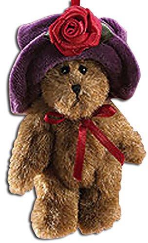 Boyds Lissy Jointed Teddy Bear in Purple Hat Plush Ornament