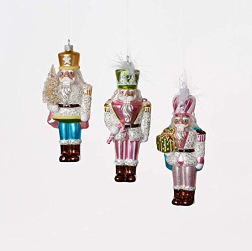One Hundred 80 Degrees Glass Soldier Ornament Set of 3