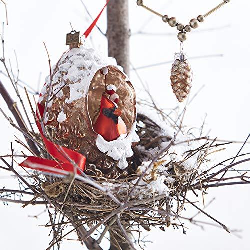 RAZ Imports EC 5″ Cardinal in Pinecone Ornament