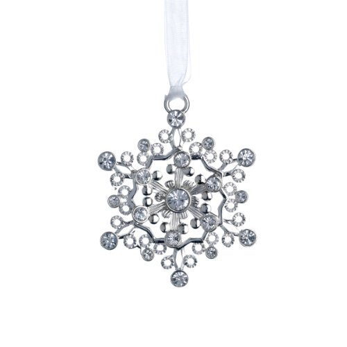 Lunt 2013 Annual Jeweled Snowflake Ornament with Swarovski Crystal Elements, 3-Inch