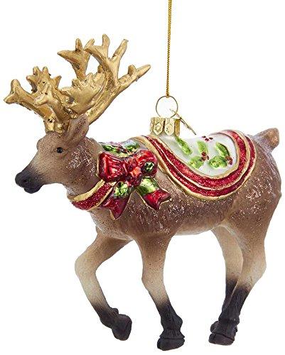 Kurt Adler Kurt S. Adler Noble Gems Reindeer Glass Ornament