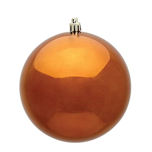 Vickerman 486078-6 Copper Shiny Ball Christmas Tree Ornament (4 pack) (N591588DSV)