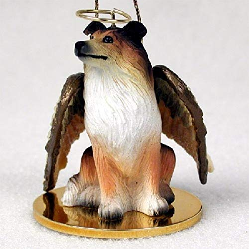 Collie Angel Dog Ornament – Sable
