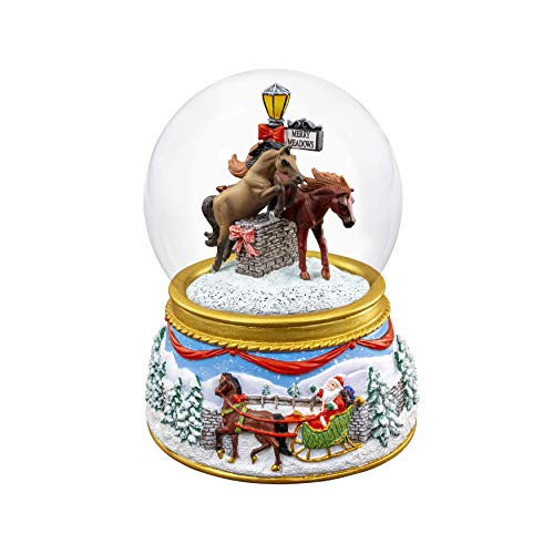 Breyer 2019 Holiday Musical Snow Globe – Merry Meadows | 2019 Holiday Collection | Limited Edition | Model #700240