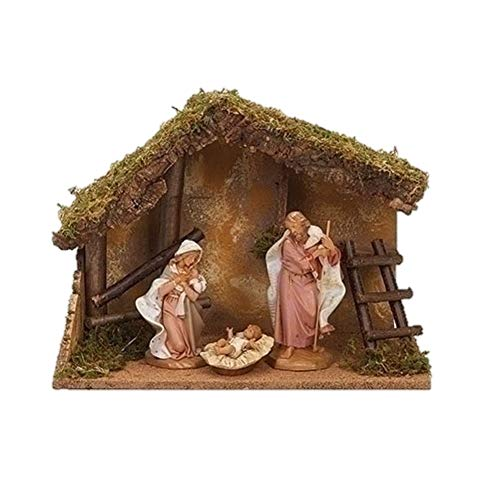 Fontanini 54869 7.5″ Scale 3Pc Figure Nativity Set with Italian Stable