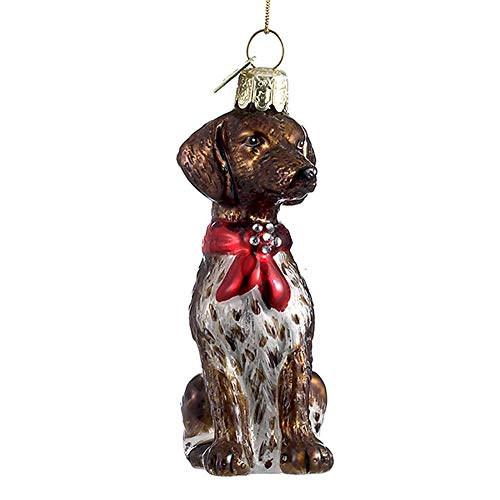 Home Décor Kurt Adler Noble Gems Glass German Shorthair Pointer Dog Christmas Tree Ornament