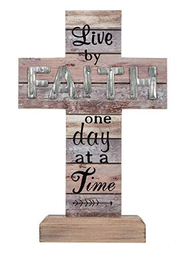 Ganz Faith Cross Figurine Live by Faith one Day at a Time