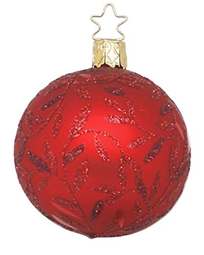Inge-Glas Ball Delights 6cm Red Matte 20084T006 German Glass Christmas ORN