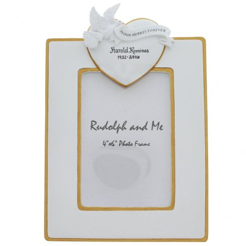 Rudolph and Me in Our Hearts Forever Rememberance Frame, 4×6