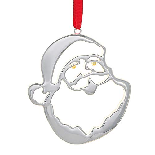 Nambe Santa Head Ornament