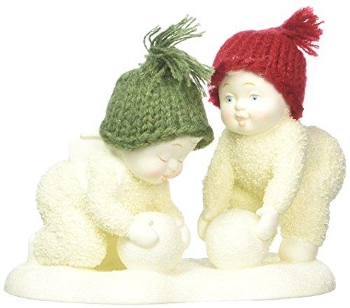 "Department 56 Snowbabies ""Making Snowballs"" Porcelain Figurine, 4″"