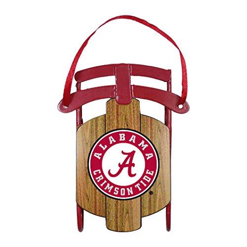 NCAA Alabama Crimson Tide Metal Sled Ornament