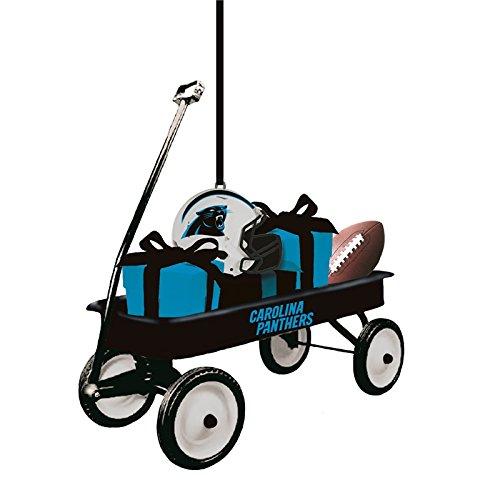Team Sports America Carolina Panthers NFL Team Wagon Ornament, Set of 2