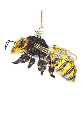 Kurt Adler Noble Gems Glass Honey Bee Ornament Standard