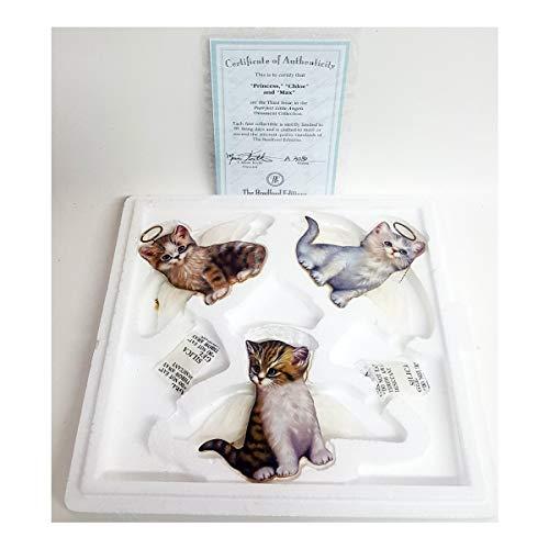Bradford Exchange Purr-FECT Little Angel Cat Ornaments by Jurgen Scholz 68493