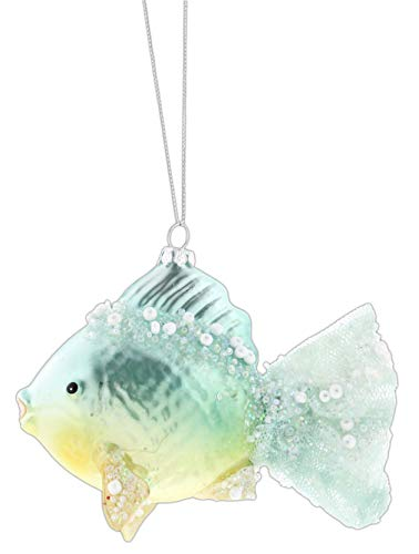 Midwest-CBK Beaded Glass Fish Ornament