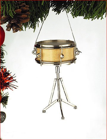 Snare Drum Musical Instrument Ornament 3.5 inches