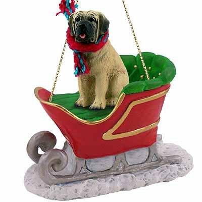 Conversation Concepts Mastiff Sleigh Ride Ornament