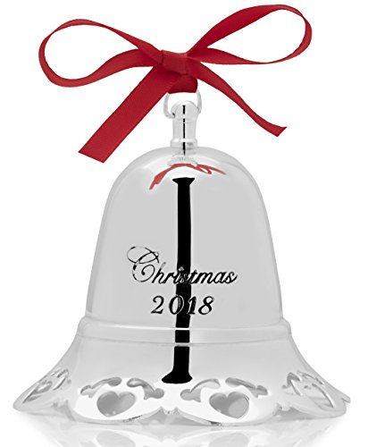 Towle 2018 'Have Yourself a Merry Little Bell Silver-Plated Christmas Holiday Ornament, 36th Edition