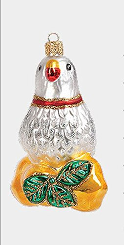 Pinnacle Peak Trading Company Partridge in a Pear Tree 12 Day of Christmas Polish Glass Ornament Decoration