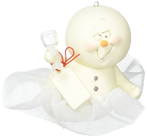 "Department 56 Snowpinions ""Tutu Many"" Porcelain Snowman Hanging Christmas Ornament, 3″ (4057424)"