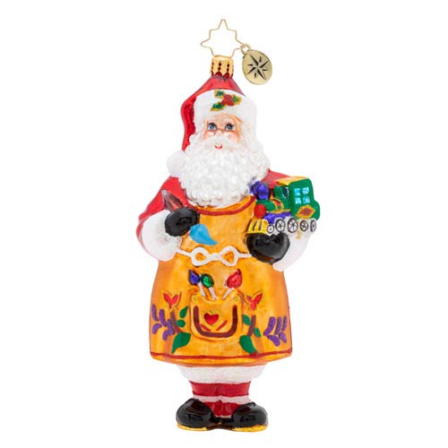 Christopher Radko Workshop Fun Christmas Ornament, red, White