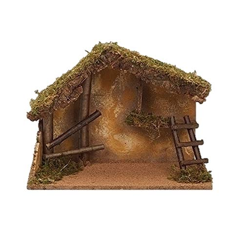 Fontanini 50869 Roman Italian Stable for 7.5″ NATIVTY Village Building Accessory