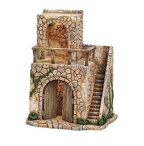 Fontanini, 55610 Nativity Building, 14″ H Lighted Bethlehem Inn, 5″ Scale Figurines
