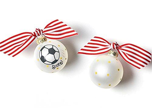Coton Colors Soccer Glass Ornament
