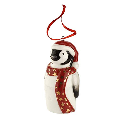 Spode Christmas Tree Penguin Ornament 3″
