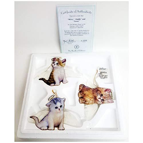 Bradford Exchange Purr-FECT Little Angel Cat Ornaments by Jurgen Scholz 68491