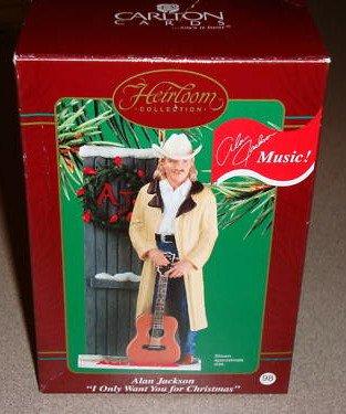 Alan Jackson – I Only Want You for Christmas 2003 Carlton Cards Musical Christmas Ornament