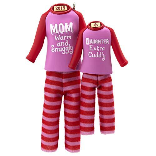 Hallmark Keepsake Ornament 2019 Year Dated Mom and Daughter Matching Christmas Pajamas, Fabric,
