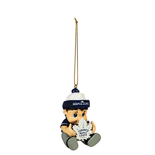 Team Sports America NHL Toronto Maple Leafs Remarkable Adorable Lil Fan Christmas Ornament – 2″ Long x 2″ Wide x 3″ High