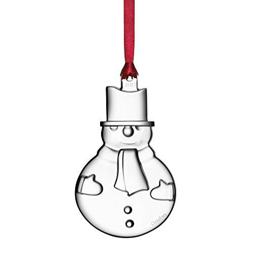 Orrefors 2017 Annual Ornament Snowman