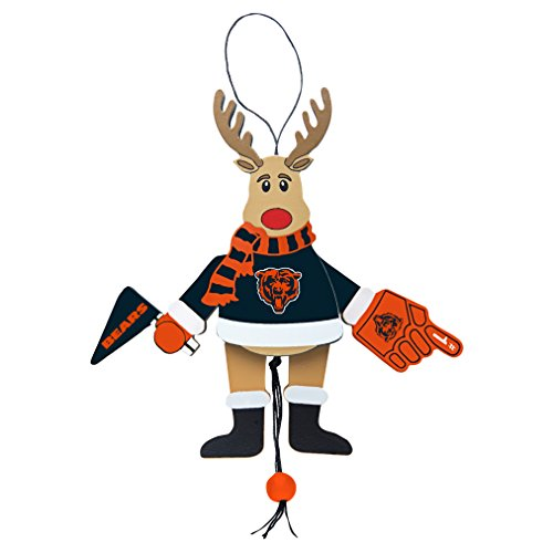 NFL Chicago Bears Wooden Cheer Ornament