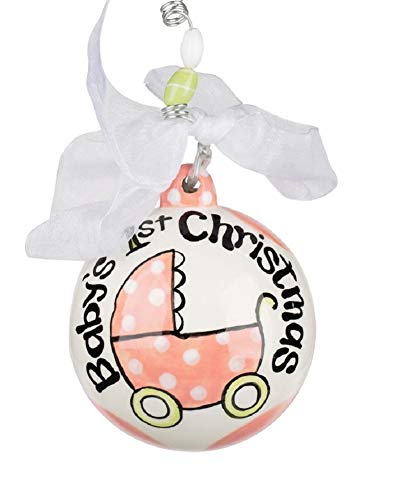 Glory Haus Baby's First Christmas Ball Ornament (Pink)