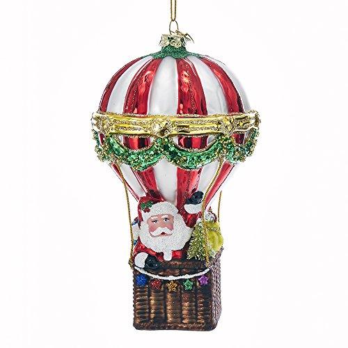 Kurt Adler Kurt S. Adler Noble Gems Santa Hot Air Balloon Glass Ornament