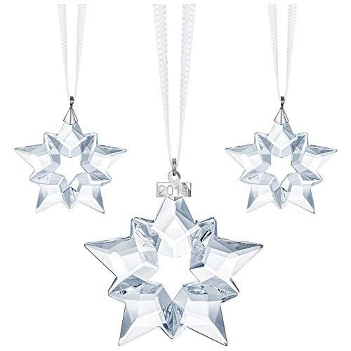 Swarovski Authentic Especially Designed 2019 Annual Editions Xmas Set of 3 Ornaments