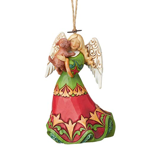 Enesco Jim Shore Heartwood Creek Angel Holding Puppy Ornament