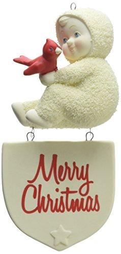 """Department 56 Snowbabies """"Merry Christmas"""" Porcelain Ornament, 5.12″"""