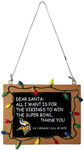 Minnesota Vikings Resin Chalkboard Sign Ornament
