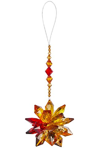 Ganz Crystal Expressions Acrylic 7″ Fall Autumn Starburst Ornament