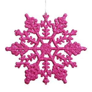 Vickerman 625″ Magenta Gilt Snowflake Christmas Ornaments, 12 per Box