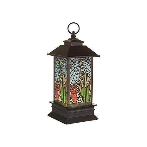 RAZ Imports Light Up Lantern Ornament with Nativity Design